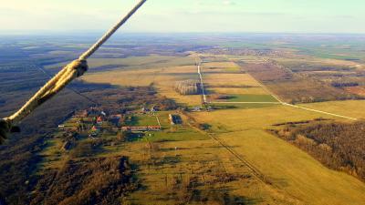 Sopron környékének látképe hőlégballonból