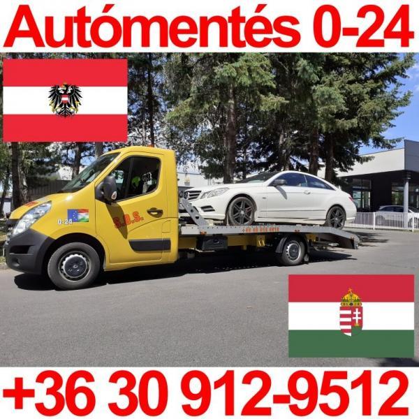 Autómentés Ausztriából 0-24 SOS