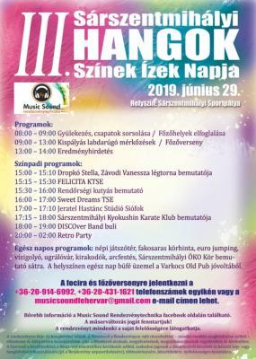 III. Sárszentmihályi Hangok, Színek, Ízek napja 2019.
